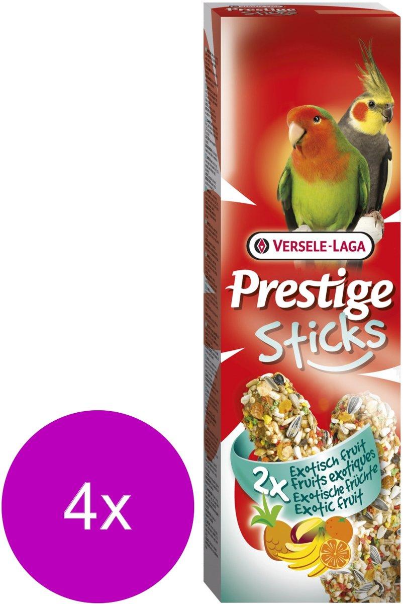 Versele-Laga Prestige Sticks Gropar Exotisch Fruit - Vogelsnack - 4 x 2x70 g