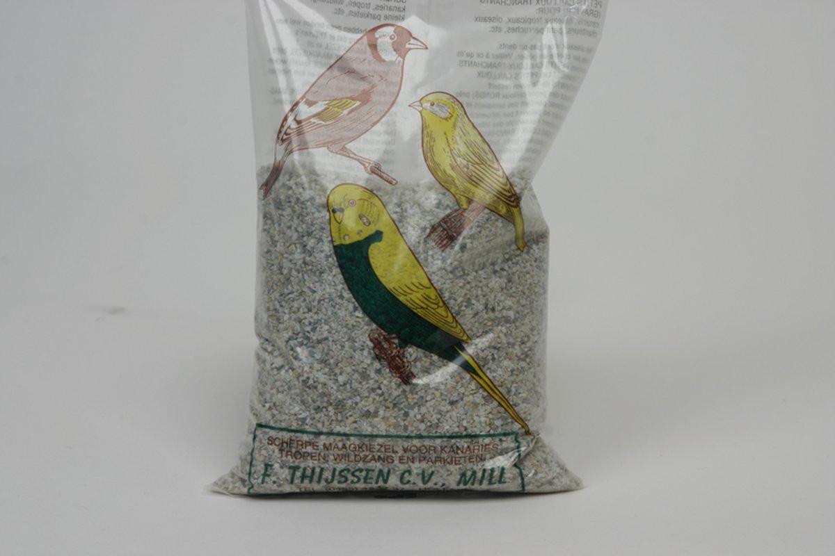 Thijssen Maagkiezel Kanarie/Wildzaad/Parkiet - 3 zakken van 1 kg  - Vogelsnack