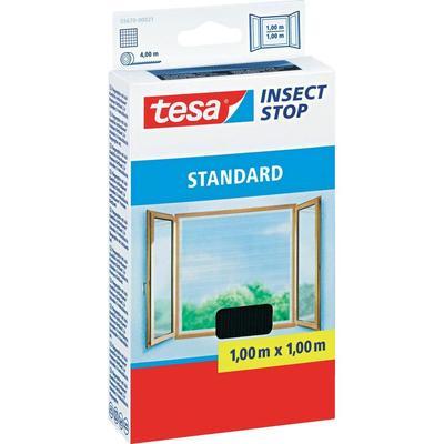 Tesa vliegenhor standaard voor ramen (l x b) 1 m x 1 m Antraciet insectenverdrijver 55670-21 tesa Insect Stop STANDARD