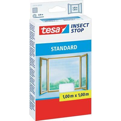 Tesa vliegenhor standaard voor ramen (l x b) 1 m x 1 m Wit insectenverdrijver 55670-20 tesa Insect Stop STANDARD