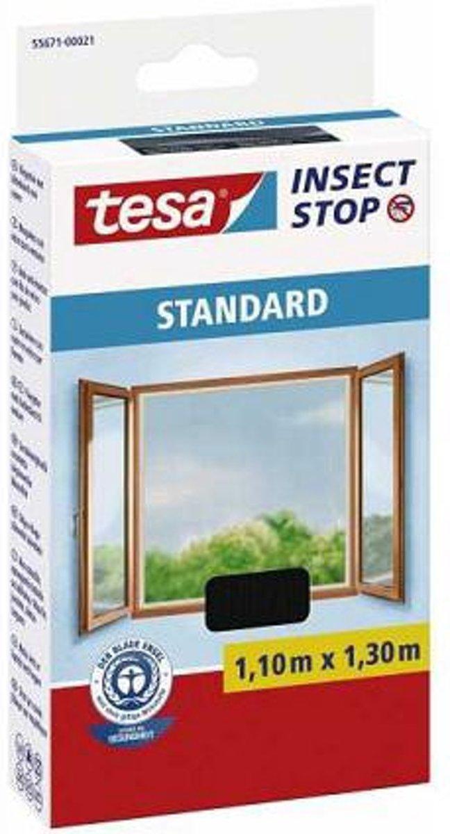 tesa Insect Stop Standard 55671-21-03 Vliegenhor (l x b) 1100 mm x 1300 mm Antraciet 1 stuks