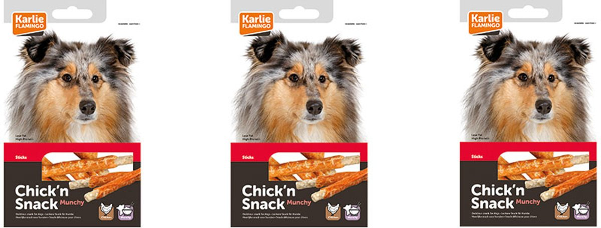 Chick'n snack munchy stick 3 x 80gr