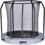 Game On Sport Black Line veiligheidsnet voor verlaagde trampoline - 305 cm - grijs