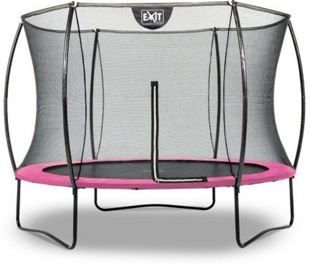 EXIT Silhouette trampoline rond - 244 cm - roze