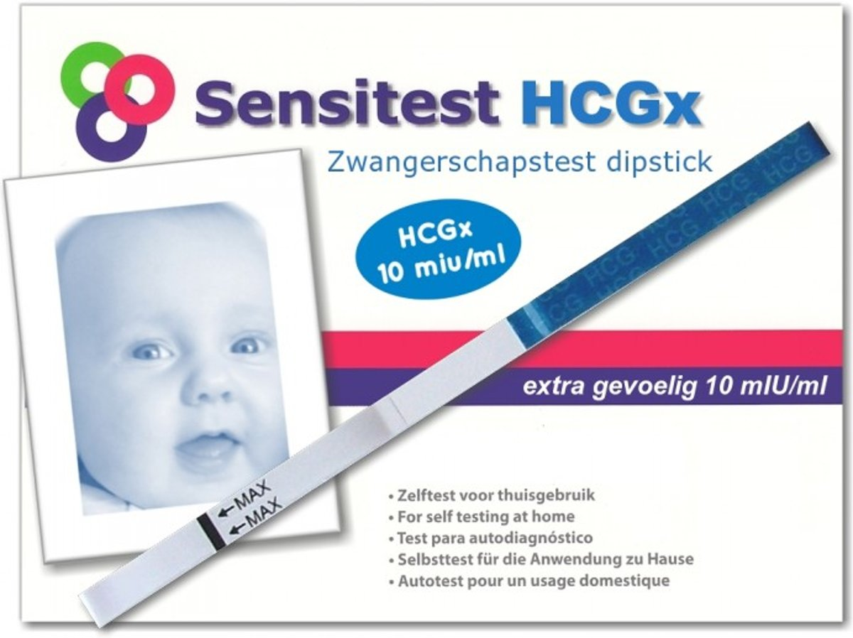 Sensitest zwangerschapstest dipstick sensitive 50 stuks
