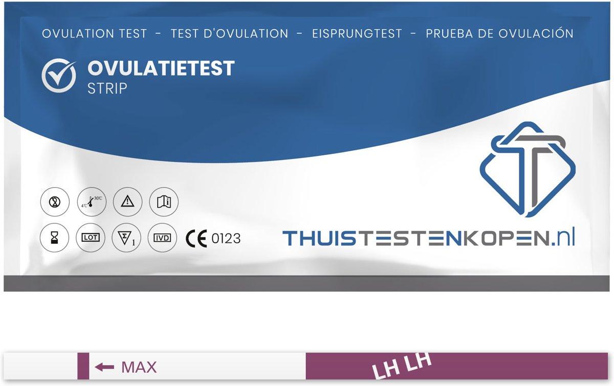 Thuistestenkopen.nl Gevoelige Ovulatietest strips 24 stuks - dipstick - Betrouwbaar en Nauwkeurig - gratis zwangerschapstest
