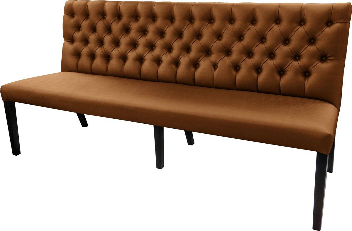 Gecaptionneerde design eetkamerbank 200 cm breed in verschillende kleuren. Kleur:  Bronze