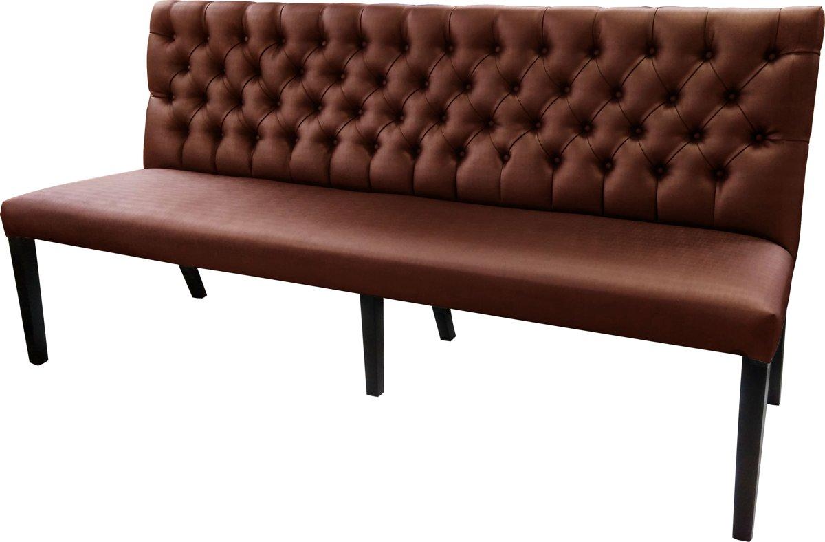Gecaptionneerde design eetkamerbank, 160 cm breed, in verschillende kleuren. Kleur: Brown