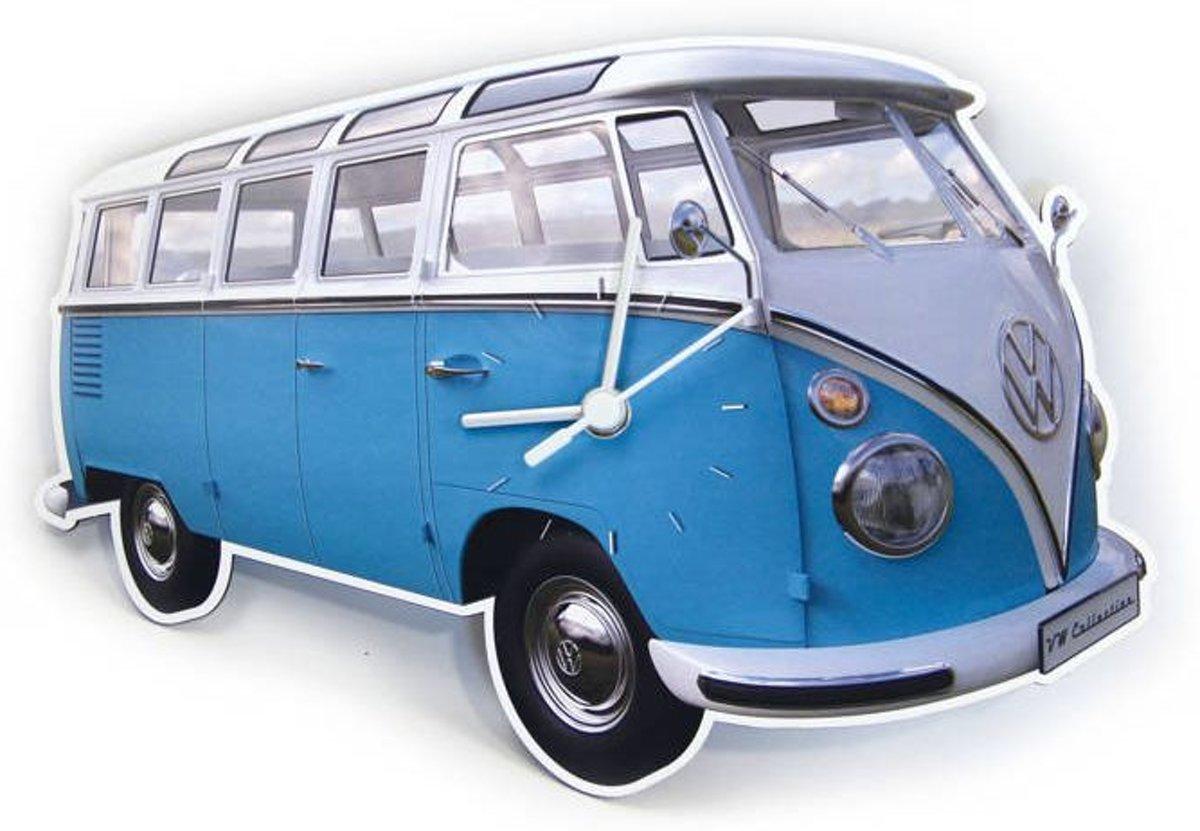 Brisa Wandklok Volkswagen T1 bus Bulli - Blauw