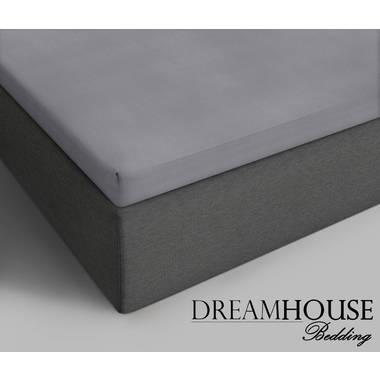 Dreamhouse Bedding Topper Hoeslaken Katoen Tweepersoons 140x200 Grijs