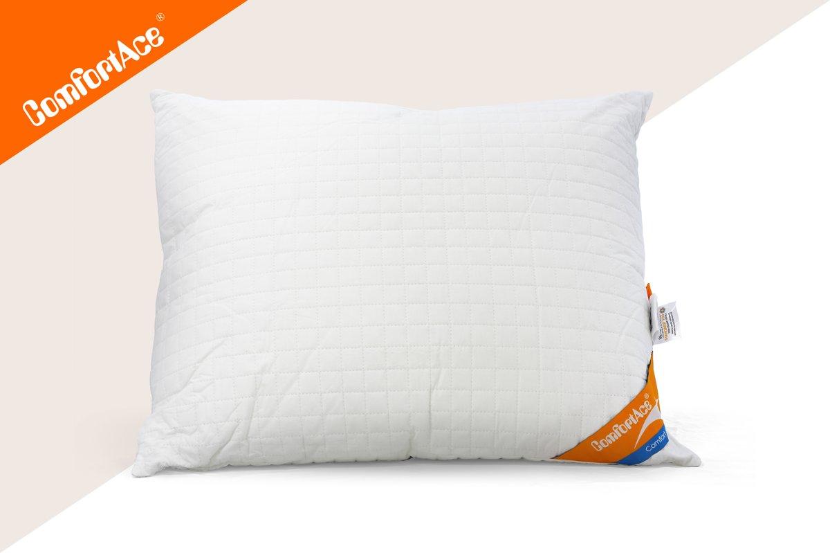 ComfortAce Dali Hoofdkussen 60x70 cm - Polyester - 800 gram - Tijk perkal katoen