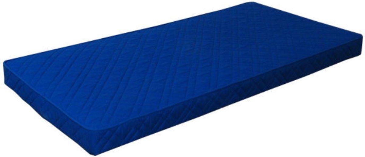 Hioshop - Schuimmatras - 90x200 cm - Blauw