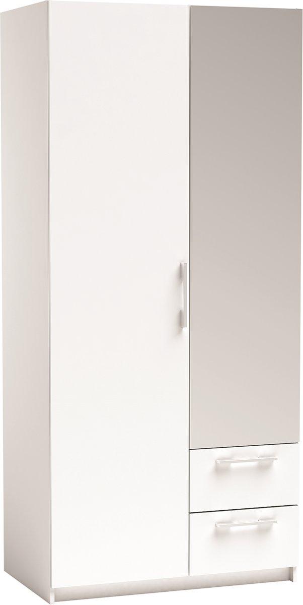 Kesta - New-York Kledingkast met spiegel deur - Wit