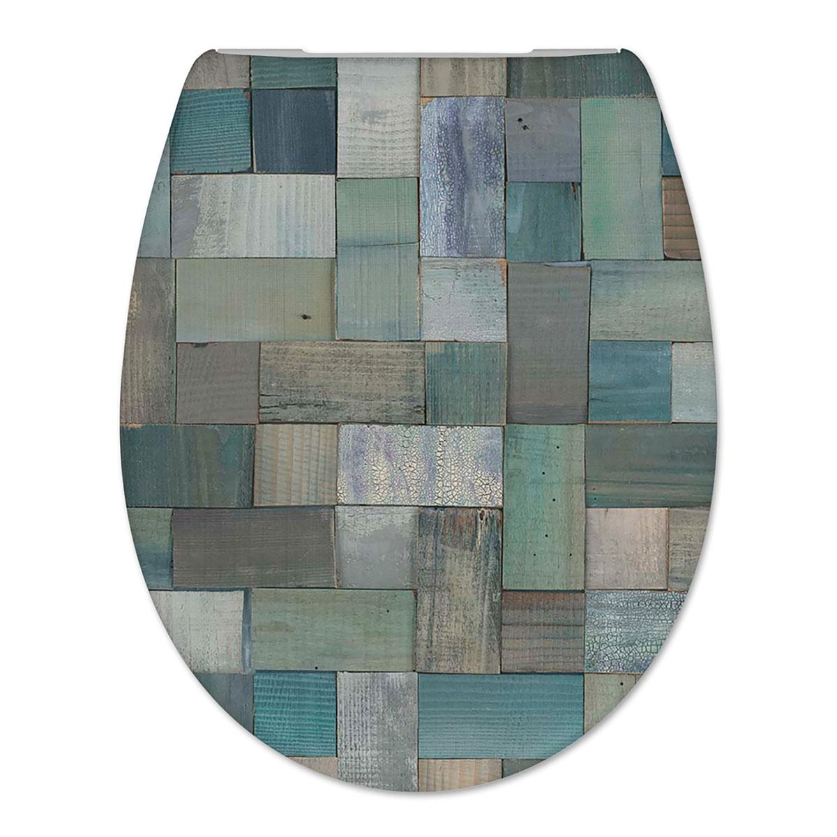 Toiletbril Cedo Mosaic Print Duroplast Softclose en Quickrelease Toiletzitting