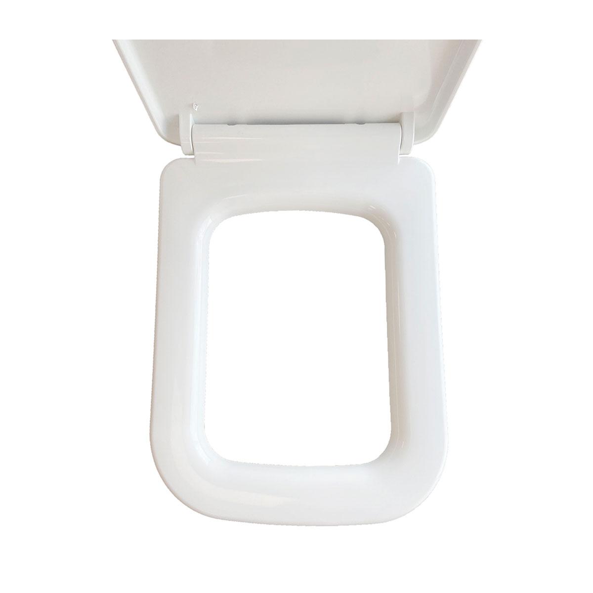 Toiletbril Wiesbaden Carré Softclose en Quickrelease Toiletzitting Wit