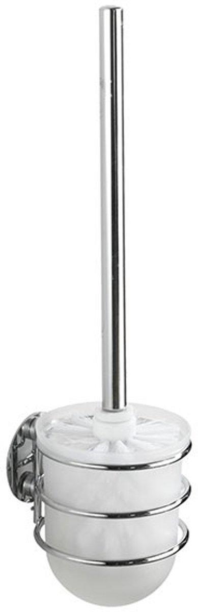 WC Borstel Set Hangend Rond Wenko Powerlock Staal Chroom 10.5x11.5x3.5cm