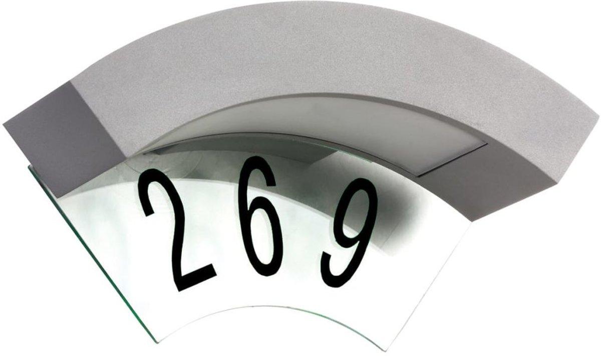 Luxform Canning LED wand buitenlamp met huisnummer optie - 230V