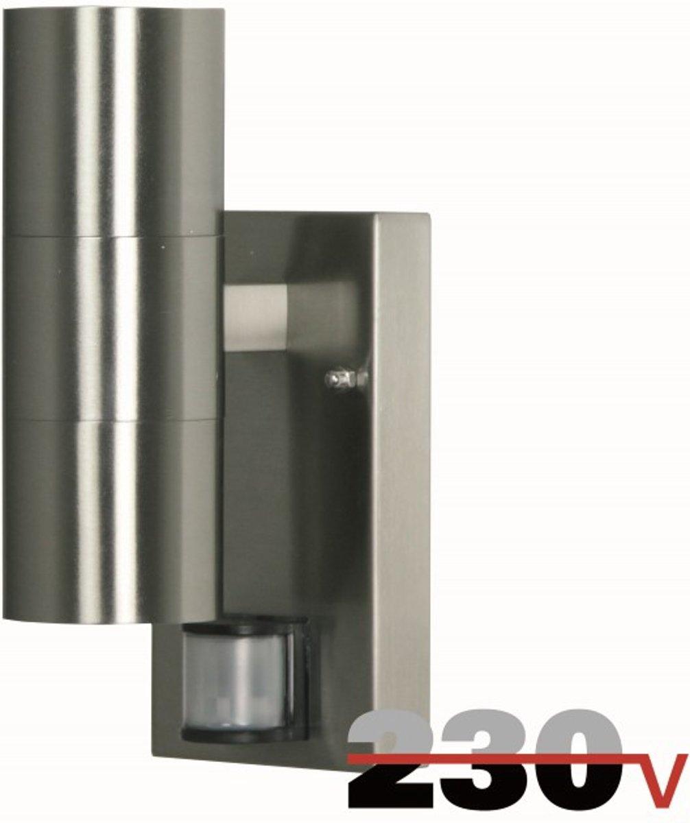 Luxform 230V Eden up/down wand buitenlamp met sensor