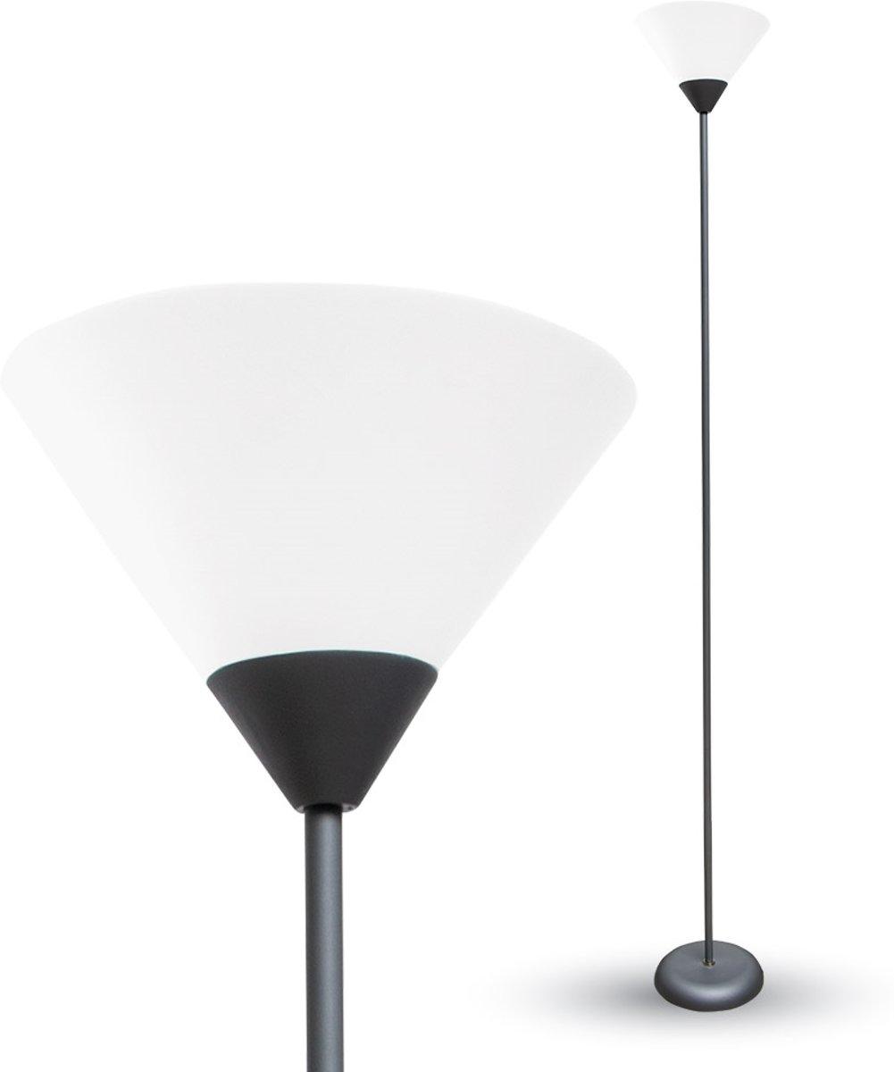 V-tac VT-7500 Vloerlamp met schakelaar - zwart - E27