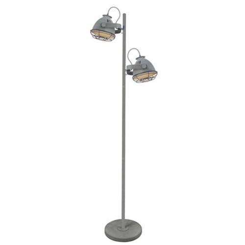 Brilliant vloerlamp Carmen beton 2x60W
