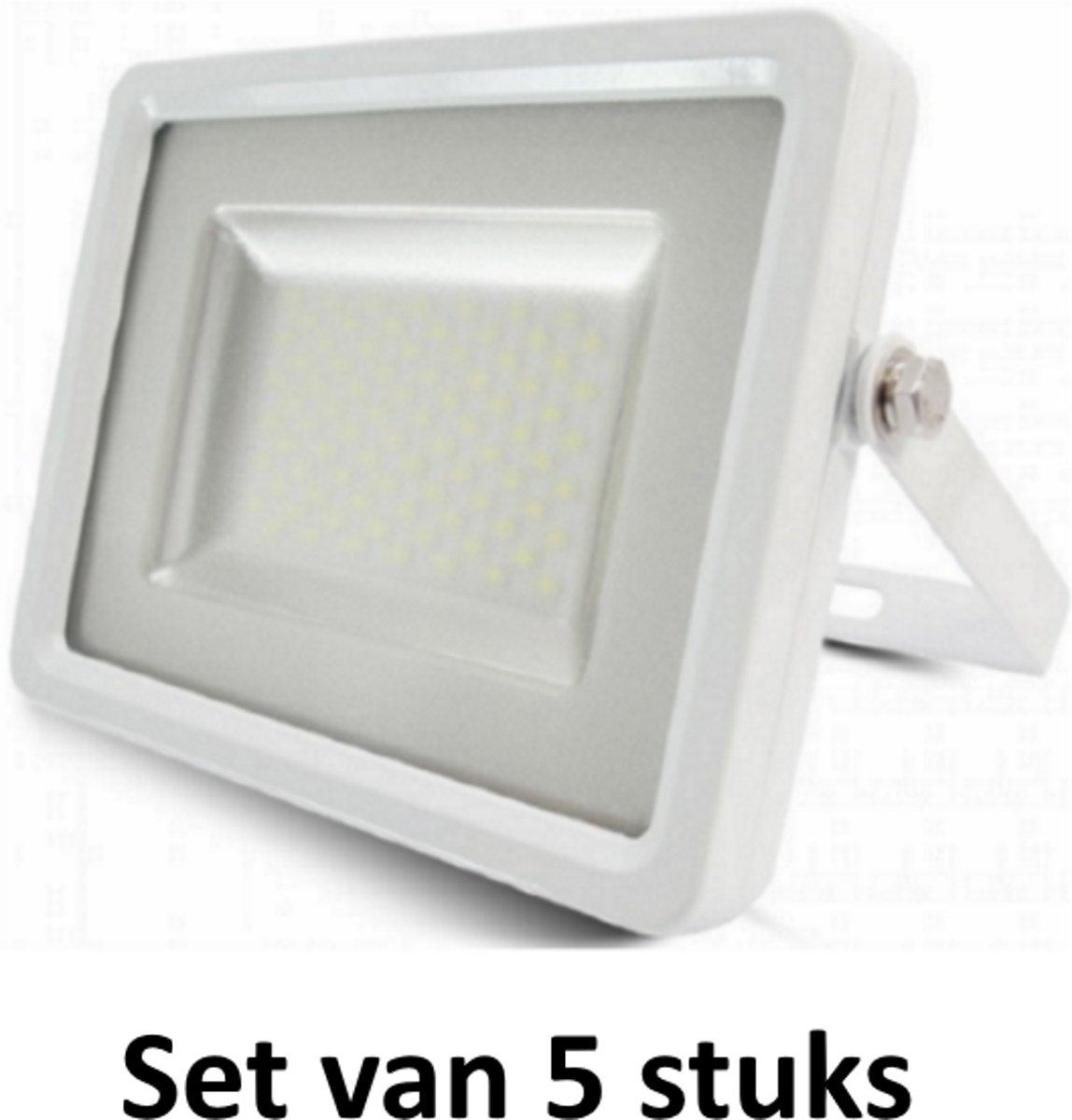20W LED Bouwlamp| Wit |4000K (Koel  Wit)|vervangt 100W halogeen | Set van 5