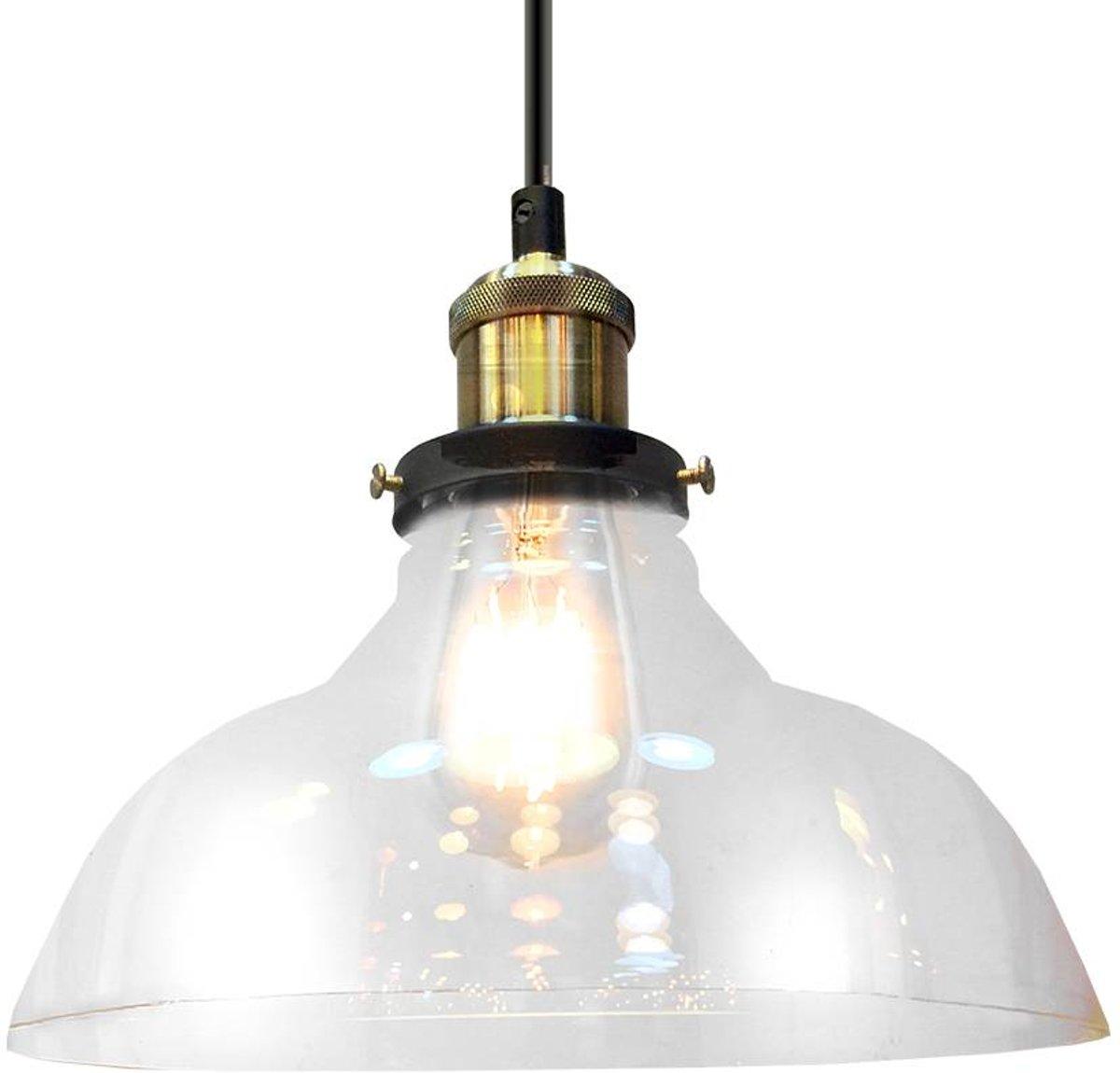 Hanglamp glas transparant e27 25cm