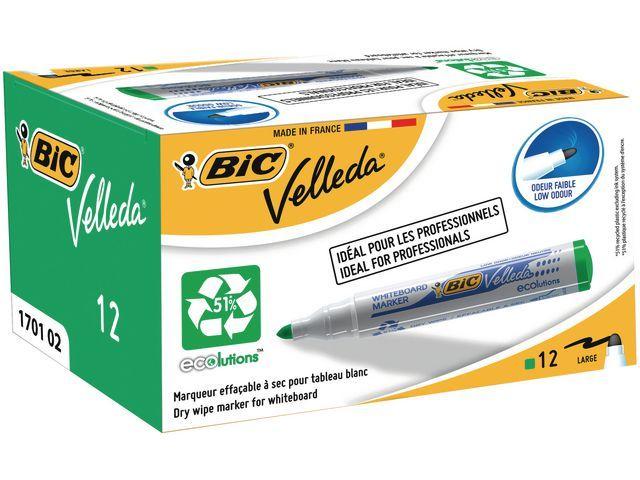 BiC Whiteboard marker Velleda 1701 1.5 mm. groen (pak 12 stuks)