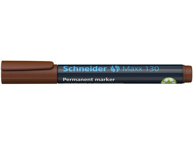 marker Schneider Maxx 130 permanent ronde punt bruin