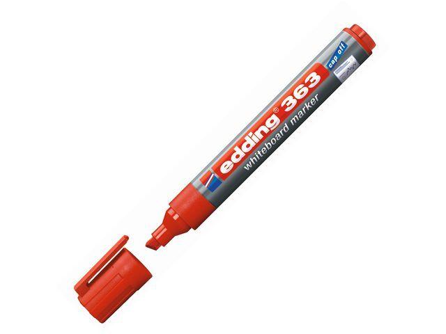 Edding Whiteboard marker 363 1 - 5 mm. rood (doos 10 stuks)