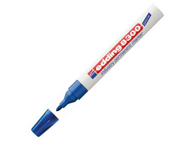 Edding Permanent marker 8300 Industry 1.5 - 3 mm. blauw (doos 10 stuks)