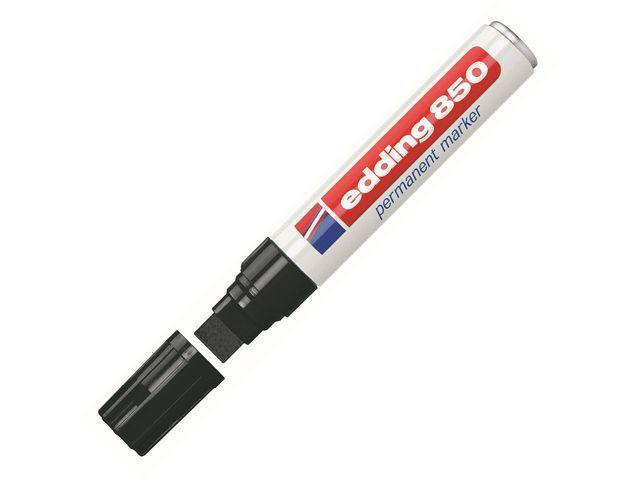 Edding Permanent marker 850 5 - 16 mm. zwart (doos 5 stuks)