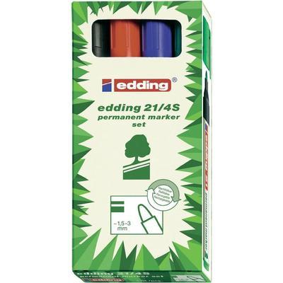 Edding Edding 21/22 permanente viltstift EcoLine 4-21-4-1999 Streepbreedte ? 1,5-3,0 mm Topvorm Ronde vor