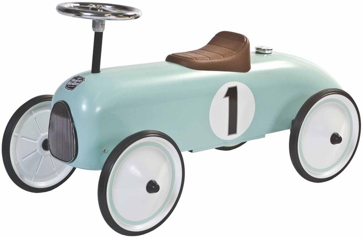 Retro Roller loopauto Colin - blauw