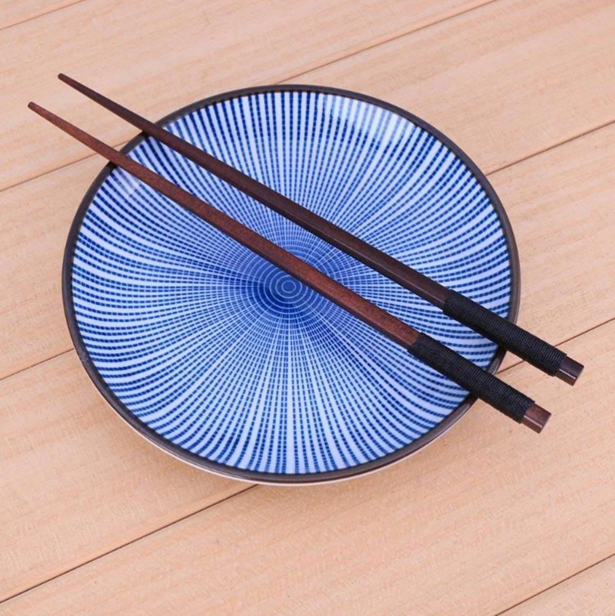 Eetstokjes - 1 paar - kastanje hout - Handgemaakte Chopsticks - Chinese Eet Stokjes - Bruin