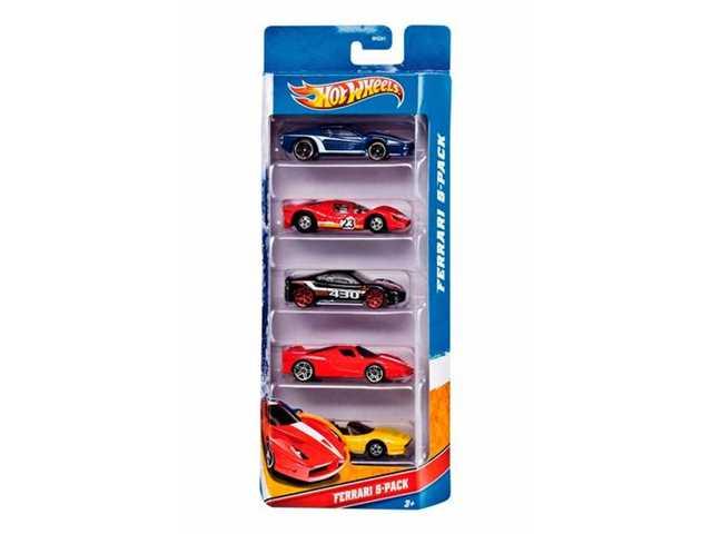 Mattel auto s in 5 stuks verpakking