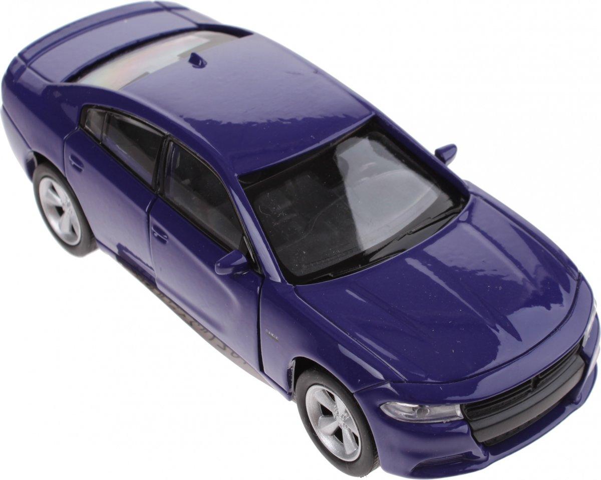 Welly schaalmodel Dodge 2016 Charger RT 1:34 blauw 12 cm