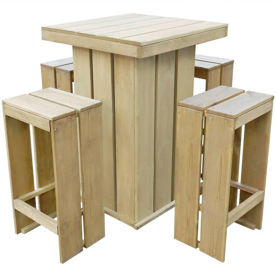 vidaXL Tuinset 75x75x110 cm geimpregneerd grenenhout 5-delig