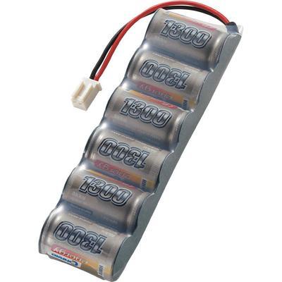 NiMH accupack 7.2 V 1300 mAh Conrad energy Side by Side Micro-car-bus