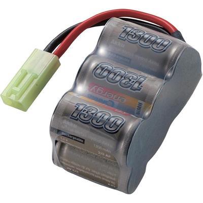 NiMH accupack 7.2 V 1300 mAh Conrad energy Block Mini-Tamiya-stekker