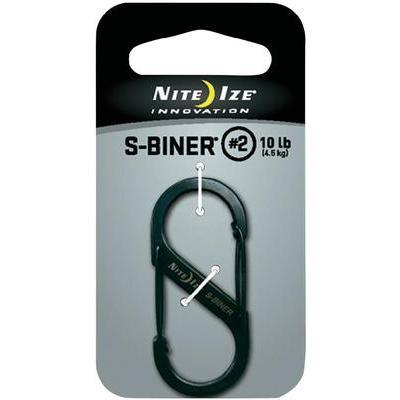 NITE Ize Dubbele karabijnhaak S-Biner maat 2, zwart NI-SB2-03-01 S-Biner maat 2