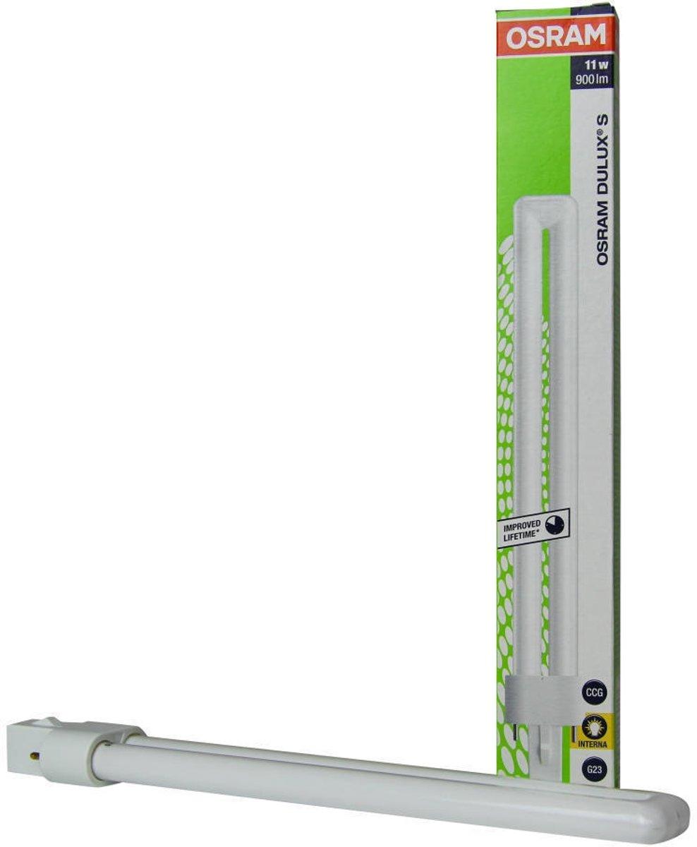 OSRAM Spaarlamp 237 mm G23 11 W = 65 W Warmwit Energielabel: A Buis Inhoud: 1 stuks
