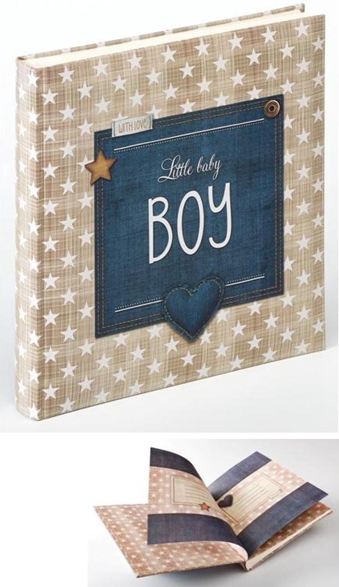 Walther Design Uk-100-L Little Baby - Fotoalbum - 28 x 31 cm - Blauw/Beige/Wit - 50 pagina's