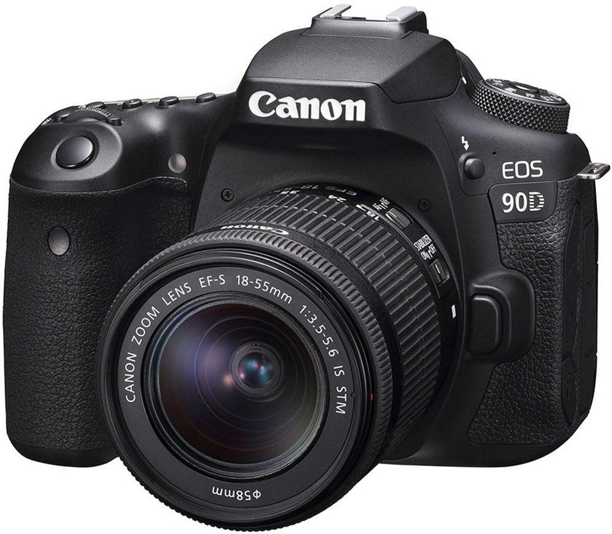 Canon EOS 90D + EF-S 18-55 IS STM - Zwart