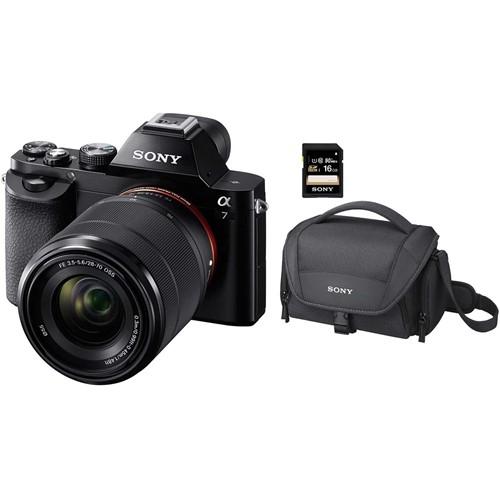 Sony systeemcamera A7 + 28-70MM lens (incl. tas + 8GB SD-kaart)