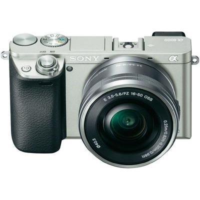 Sony ILCE-6000LS E-mount systeemcamera 24.3 Mpix Zilver Incl. SEL-P16-50 mm lens