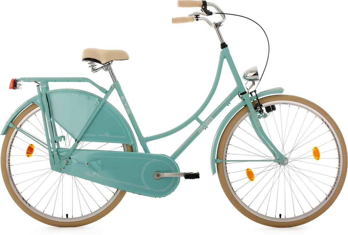 Ks Cycling Fiets 28 inch singlespeed omafiets Tussaud mint - 54 cm