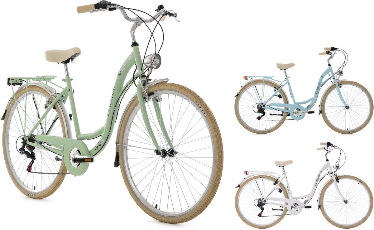 Ks Cycling Fiets 28 inch damesfiets Casino met  derailleur voor 6 versnellingen lichtblauw - 48 cm