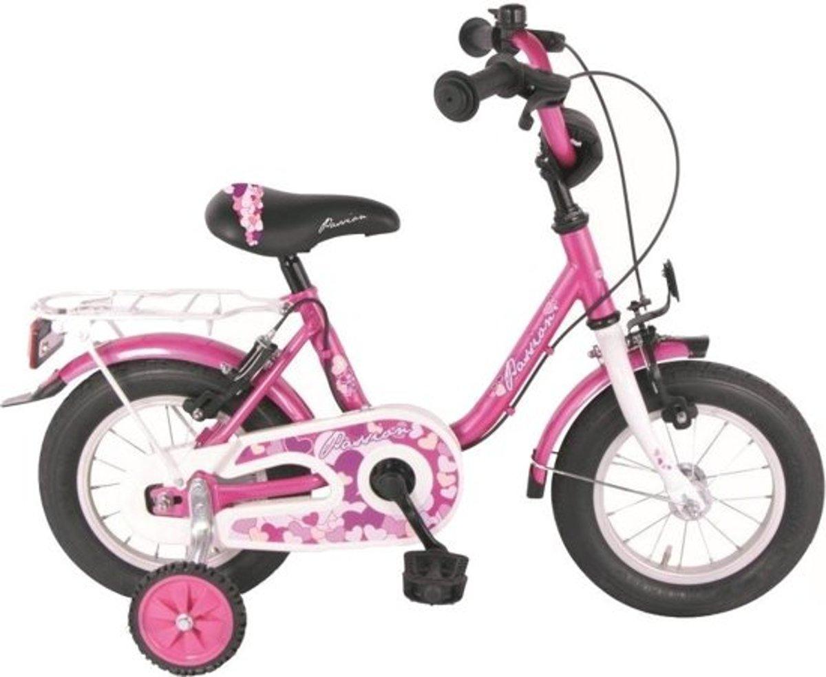 Meisjes fiets Passion Fuchsia handrem