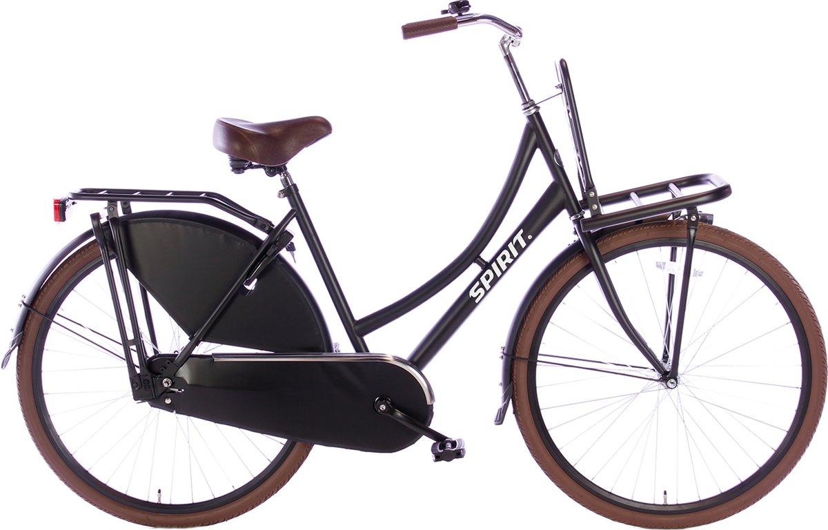 Spirit Transporter mat-zwart - Damesfiets - Transportfiets