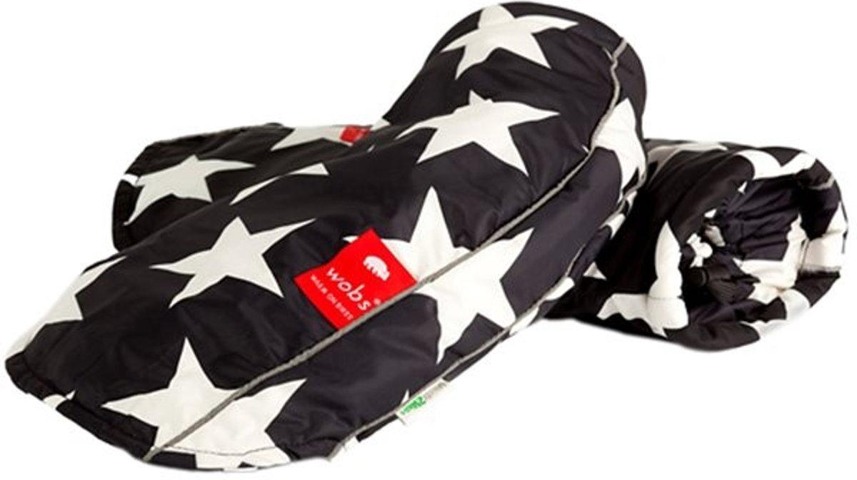 WOBS Black Star Black&White fietshandschoenen